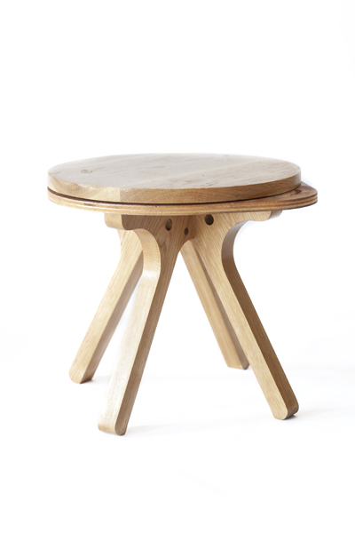 Mlik side table - Wooden Top