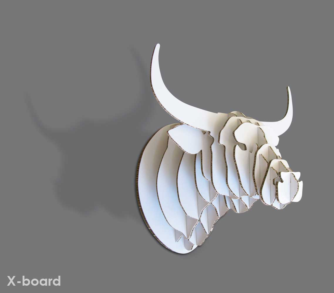 Nguni Trophy Head in X-Board or Bamboo