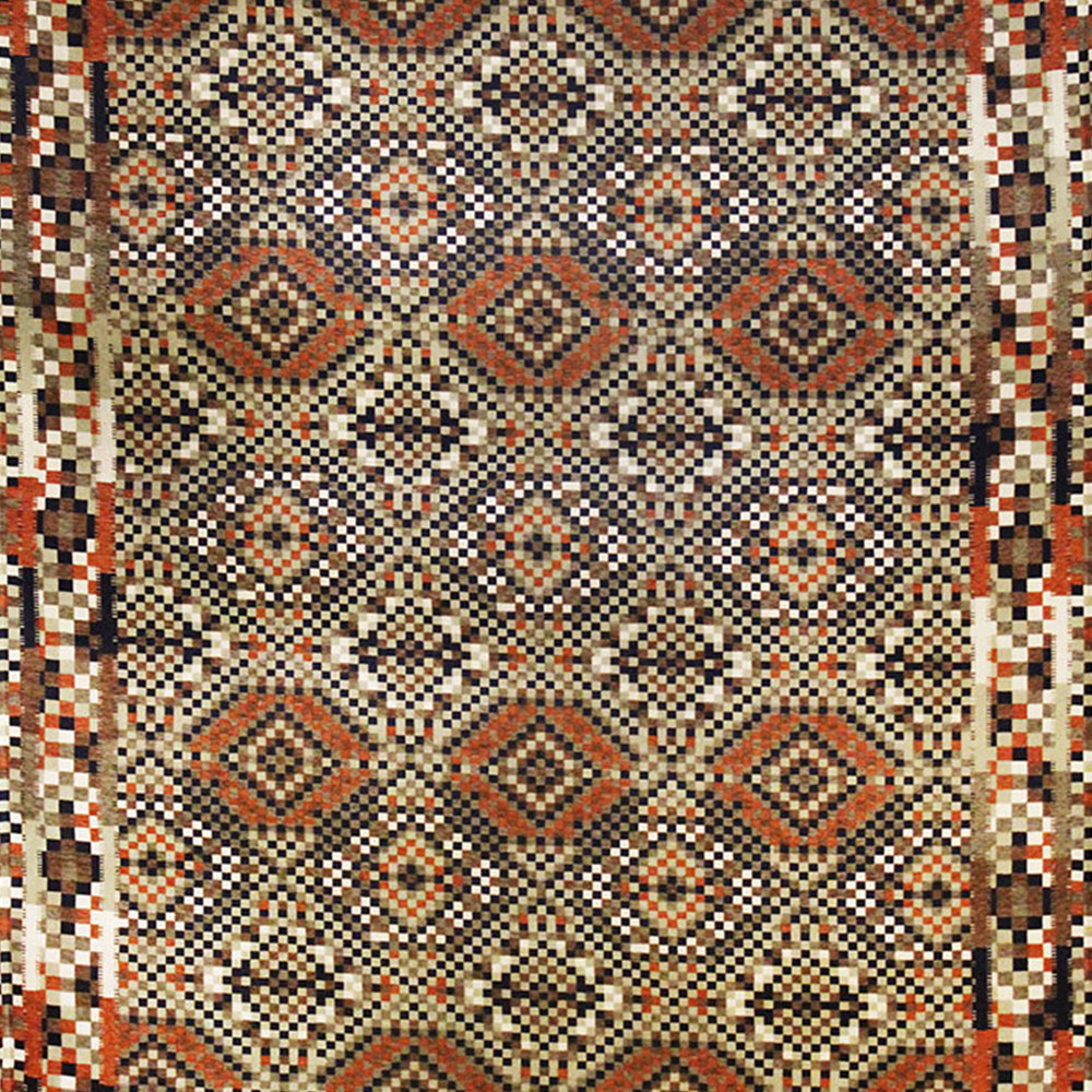 Our rugs are made in South Africa from polyester and comes complete with anti-slip on the bottom and are mildew and UV resistant, making them practical to use even in bathrooms, kitchens and outdoors on patios.  The polyester also affords our rugs the added benefit of being very easy to clean by simply using any mild household detergent, cold water and a soft sponge.