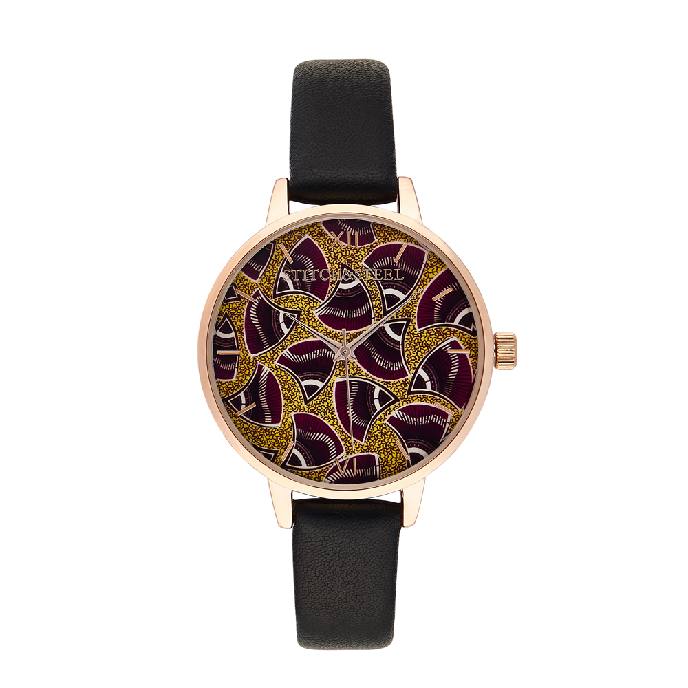 Cause this is Africa! Symbolising strength and resilience, this iconic print embodies those characteristics. It's a fun print which allows it's wearer to play around with a myriad of colour options to complement their timepiece. Whether worn for practicality or sheer style, this is definitely your conversation starter. Each one of our watches comes with a manufacturers warranty enclosed in the box, we pride ourselves in our packaging where each watch comes with a unique African Dutch Wax Print Drawstring bag which has been made by local women in South Africa as we pride ourselves to be a design company whom supports our local community.