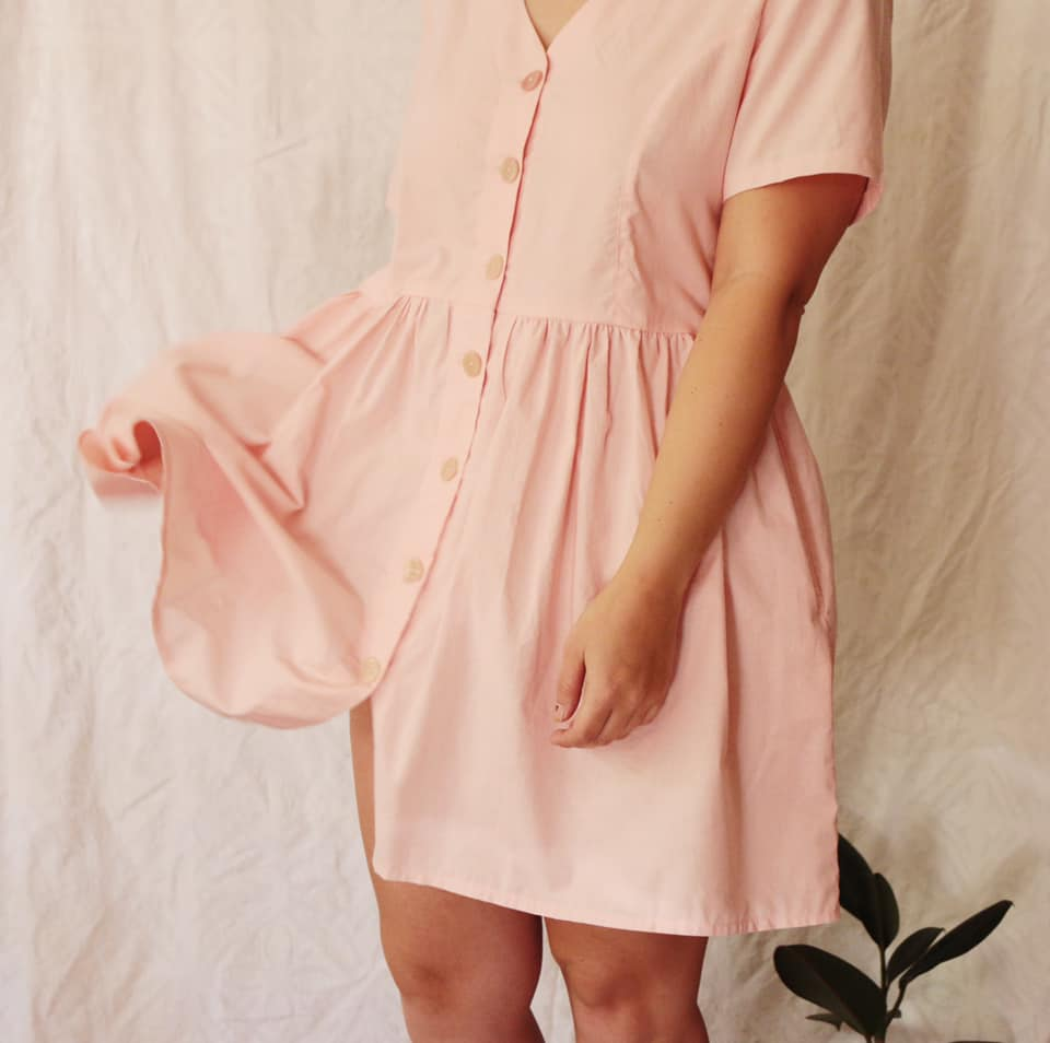 The Prairie dress is panelled down the bodice on both sides, we love this delicate detail.  Produced to order, handmade, 100% cotton and preshrunk, this item can be worn with stockings, boots and a jersey in the Winter time or as is in the warmer Seasons.  Currently Available in Unbleached Cotton, Bubblegum, Baby Blue & Pastel Yellow  We ask for up to 7-10 working days for your order to be processed.  Once order has been processed you have an option of collecting from our home studio or alternatively the Neighbourgoods Market in Woodstock on Saturday. Shipping options at checkout.  L&F x