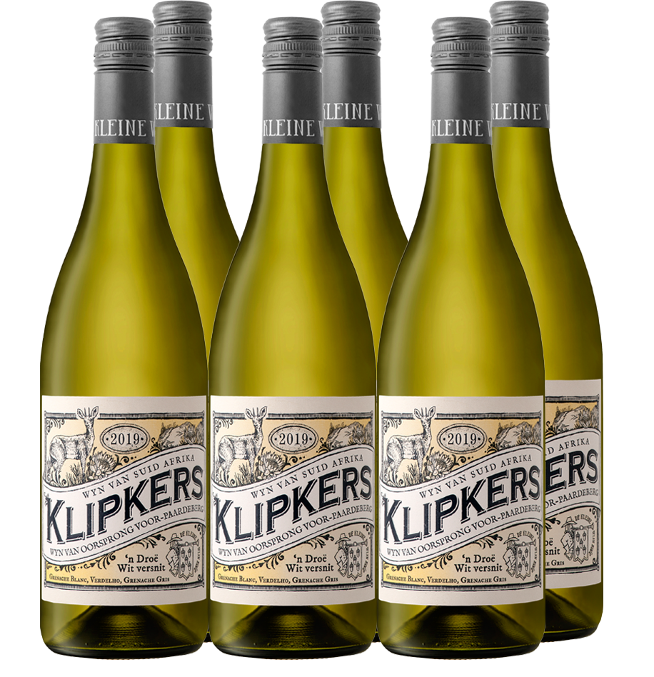 VINTAGE: 2019  VARIETAL: 74% Grenache Blanc, 17% Verdelho, 9% Grenache Gris  ORIGIN OF FRUIT: Voor Paardeberg   Klipkers, also known as the Candlewood tree, is endemic to Paarl Mountain and prominent between rock crevices. Apart from being used as firewood, several other early farming activities involved this tree. The bark was used in tanning and wagon brake-blocks. When the fruits fall among the rocks, they are eagerly consumed by the dassies (hyrax) that live there.    VINTAGE NOTES  These vineyards are planted on decomposed Table Mountain sandstone shale in combination with decomposed granite soils. Grapes were harvested by hand and transported in lug-boxes to the cellar. Harvesting conditions were good with vines yielding between 4-5 tonnes/ha.    WINEMAKING  Fermentation took place naturally in stainless steel tanks and 15% in older 225l French Oak barrels. All three varietals were vinified individually before blending.    TASTING NOTE  The nose gives great tension and poise, brimming with apricot stone-fruit, peach and mango on the nose. Fresh, vibrant and textured with weighted density that finishes with elegance and freshness on the palate.    ANALYSIS  Alc 13.12 % | Residual Sugar 1.9 g/l | TA 7.6 g/l | pH 3.07    WINEMAKER  Wynand Grobler