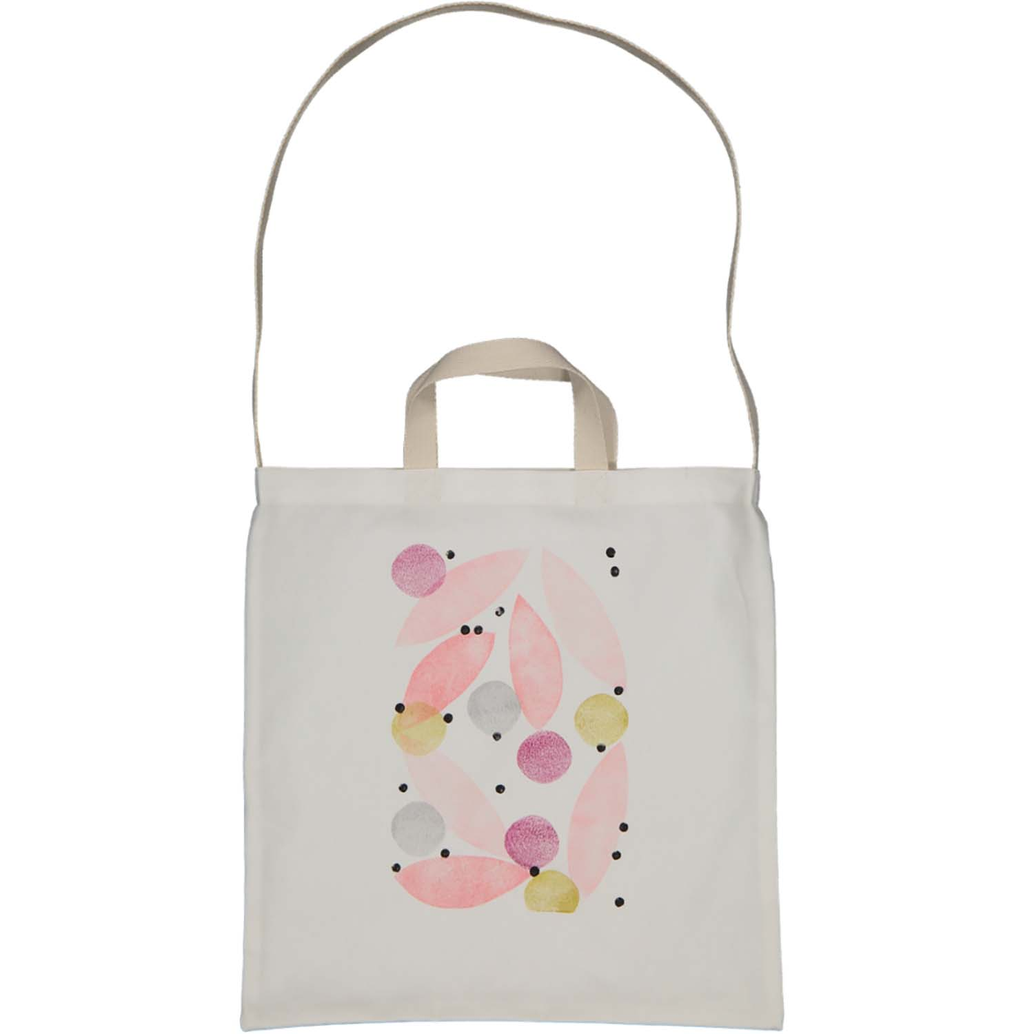 2-Way tote - pink leaves