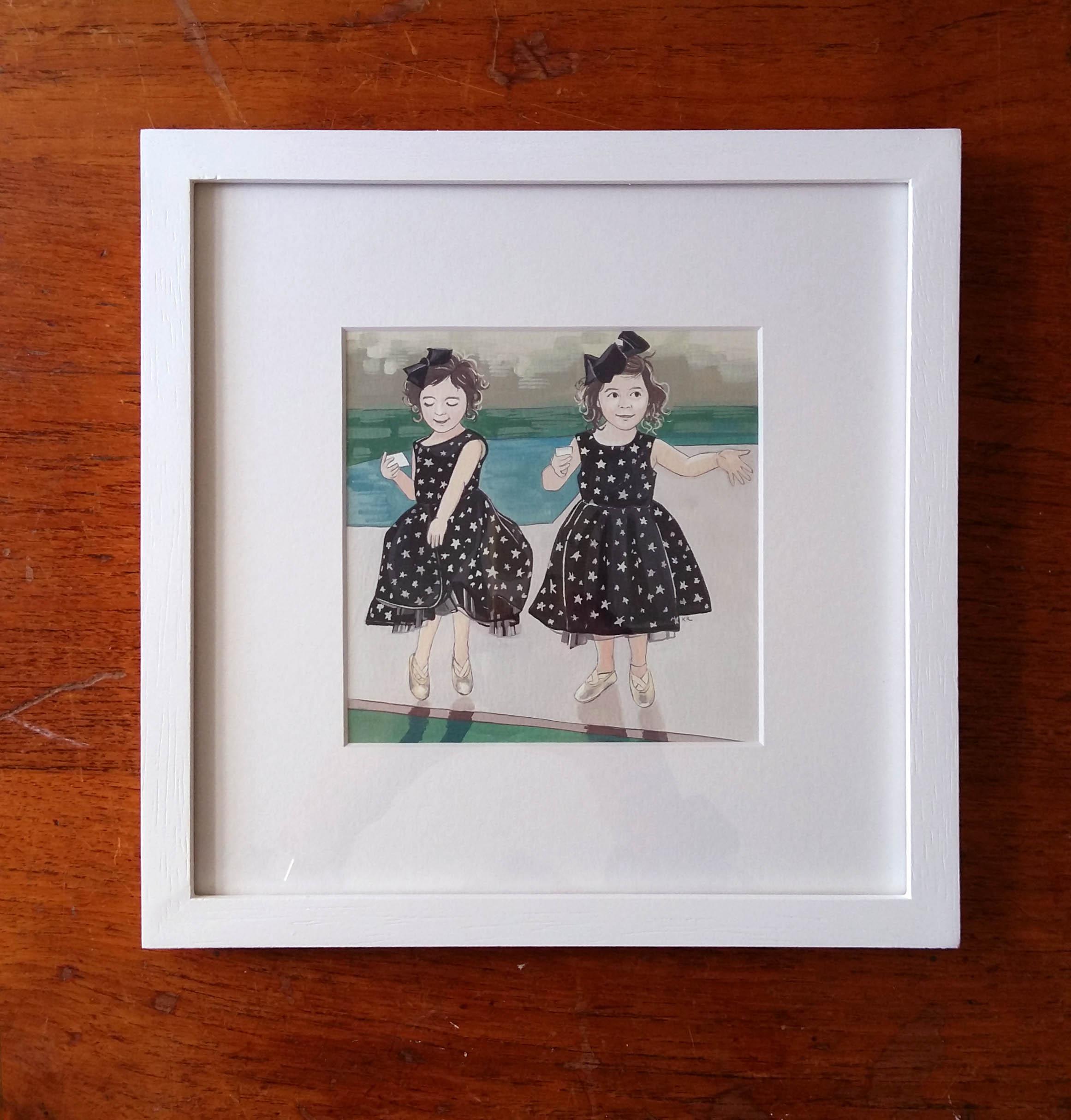 FRAMED Custom Childrens Portrait - Hand Painted