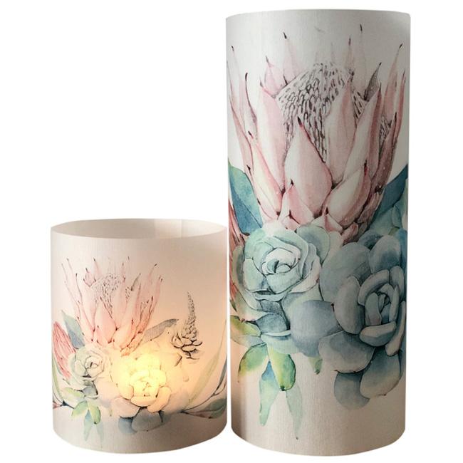 Paper lanterns - set of 2 - African Rose