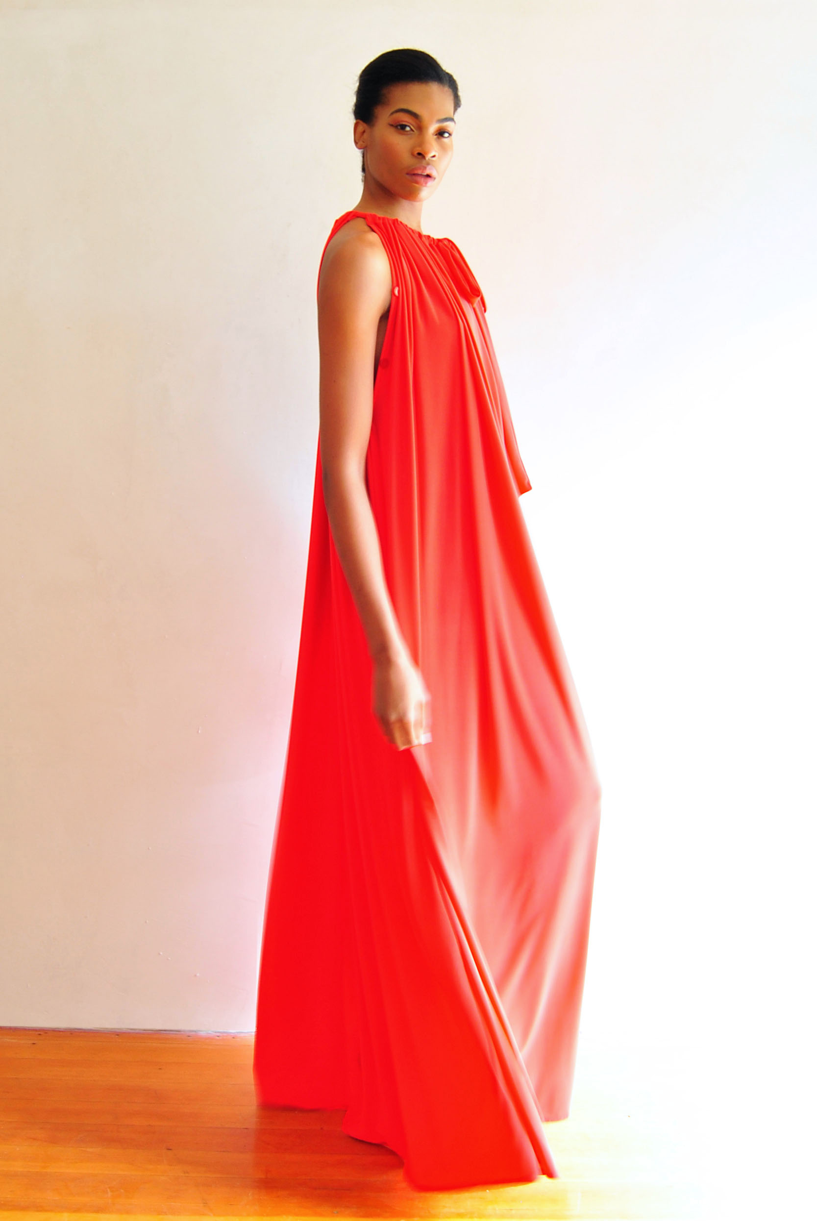 Myri Dress Dark Coral