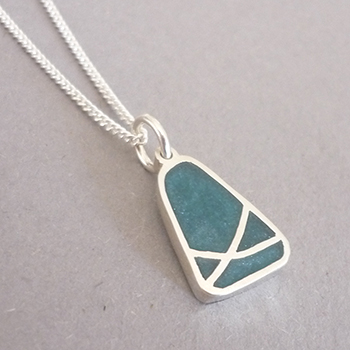 Triangular Crossover Resin Pendant