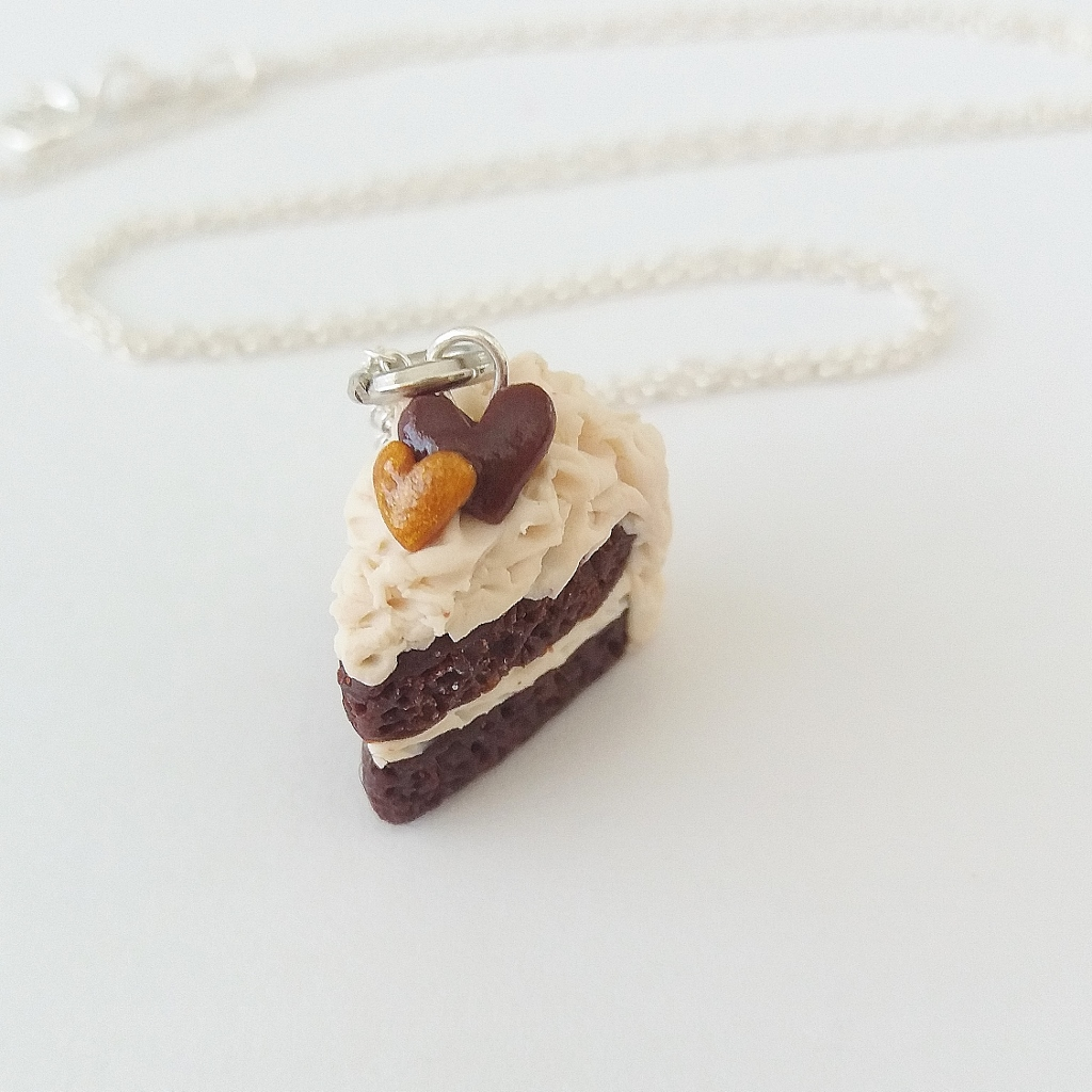 Chocolate cake Charm/ Necklace