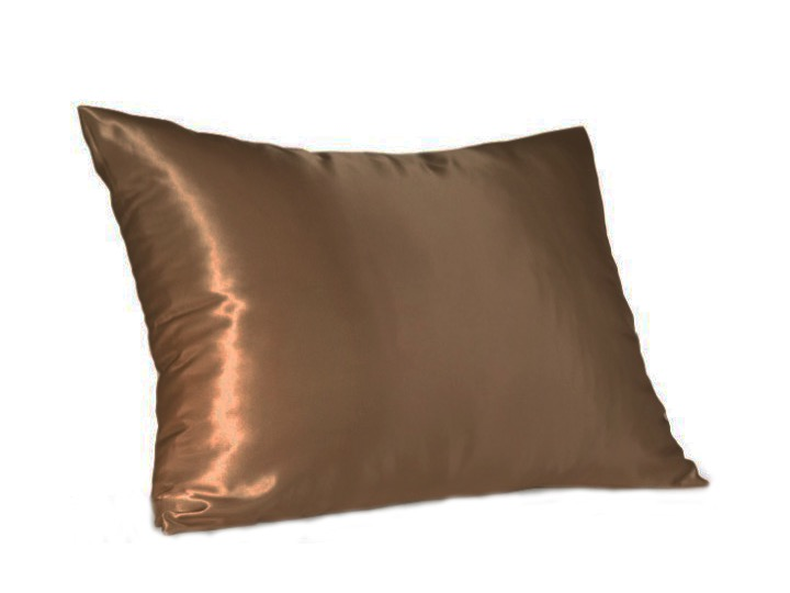 Coffee Satin Pillow Slip - Standard