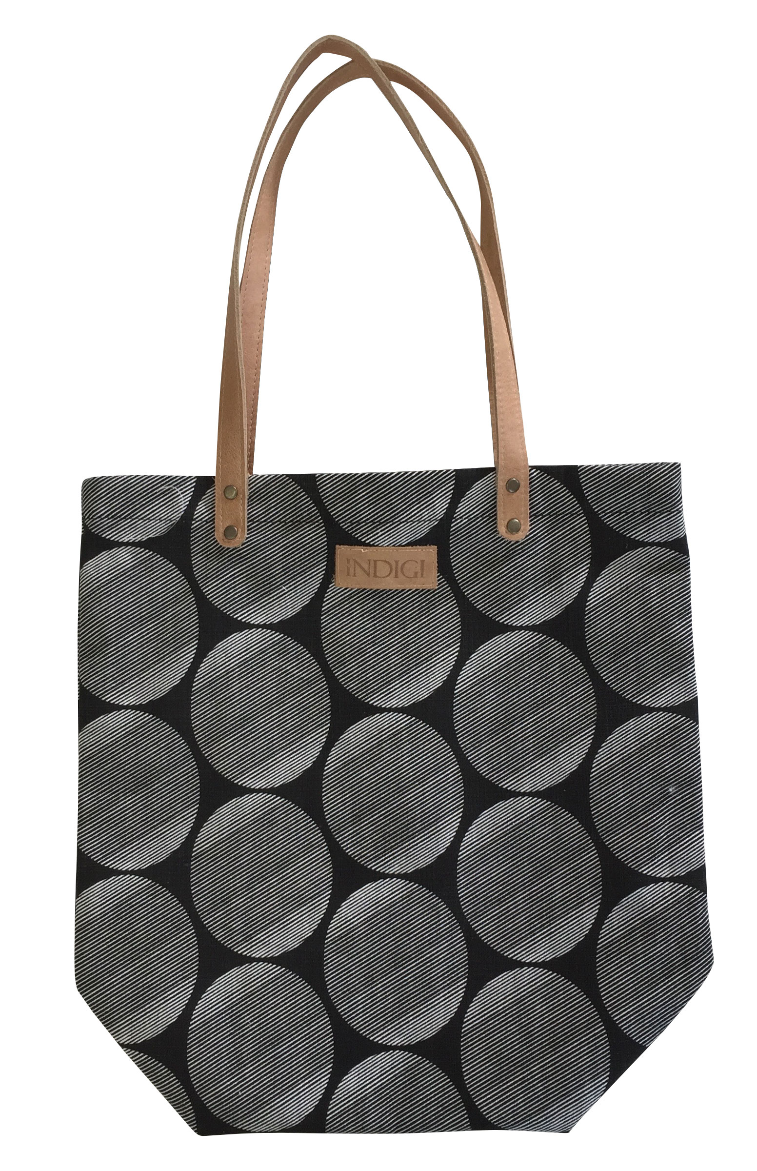Tote Bag Stripe Dot (Black)