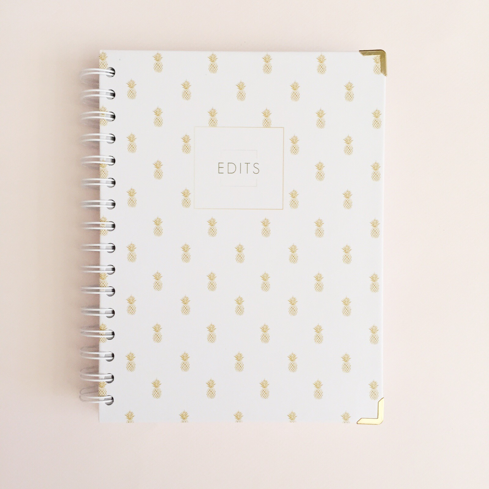 A notebook to compliment Your Weekly Edit 2017. Beautiful covers, high quality paper, durable design, and simple in its essence - our Edits range is there to give you space to write down your dreams, ideas, doodles, or notes. With 100 ruled pages, a pocket in the front cover for loose bits of paper, a ring binder for easy page flipping, strong metal gold corners and thick, 120gsm lined paper to keep things neat, you can rest assured that this notebook can handle your busy every day goings.