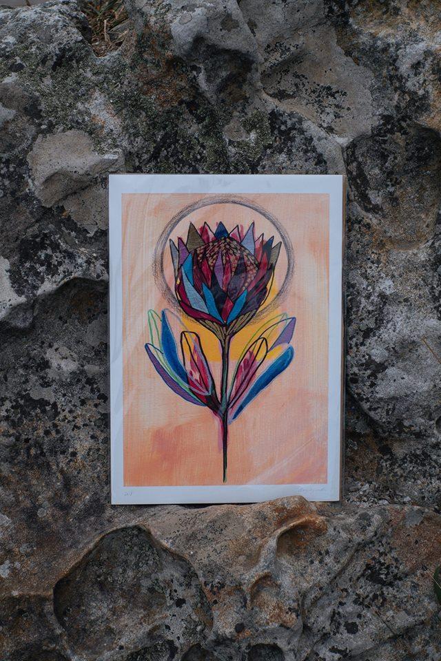 Kween Protea Print