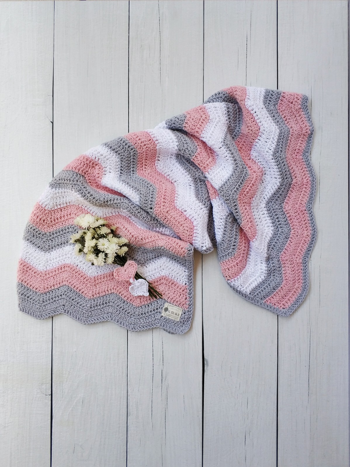 The Grace Blanket (Pink/Grey)