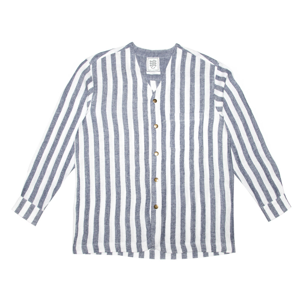 Dhow Towel Striped Cardigan Shirt
