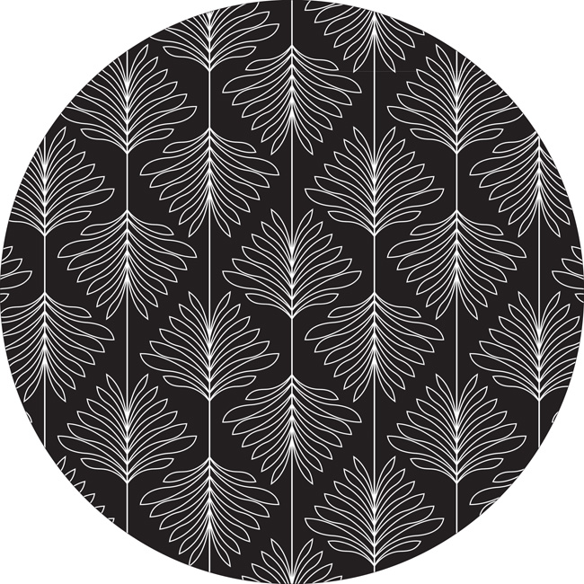 20cm round mousemat in our new botanical deco design. 