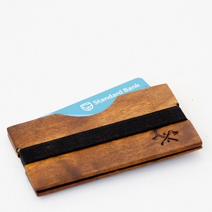 A must have item for anyone who needs to simplify there wallet situation.  Enough space for all the essentials and sleek wooden styling, this wallet protects your bank cards or business cards so they last longer while your pocket stays slimmer.