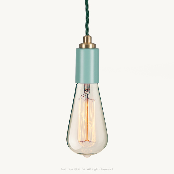 We'd like to introduce our latest colour range of Signature Pendants that come in Stone Grey, Winter Blush, Misty Mint, Harbour Teal and White. They're unique with their twisted cord and machined brass detailing. 
