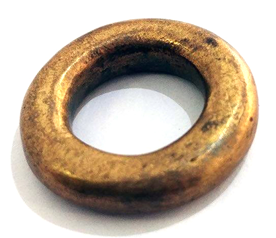 chuncky ring cast in brass (pre-alloy yellow)