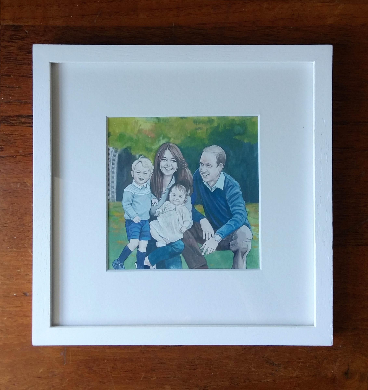 FRAMED Custom Family Portrait- Hand Painted