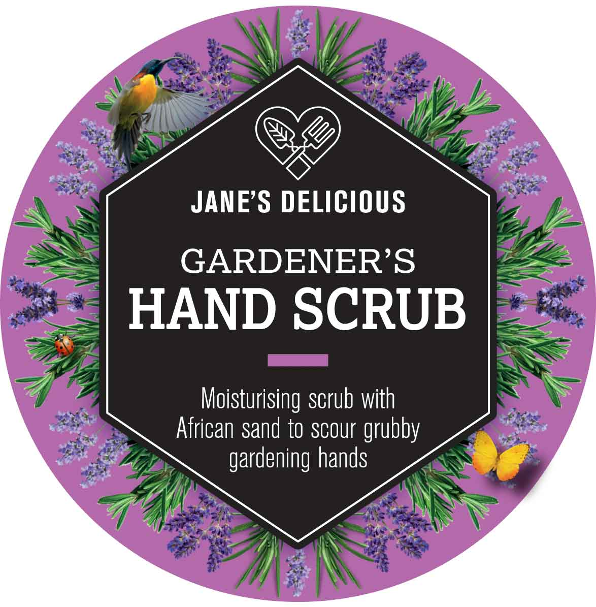 A moisturising and deep cleansing scrub to scour grubby gardening hands and heels. 