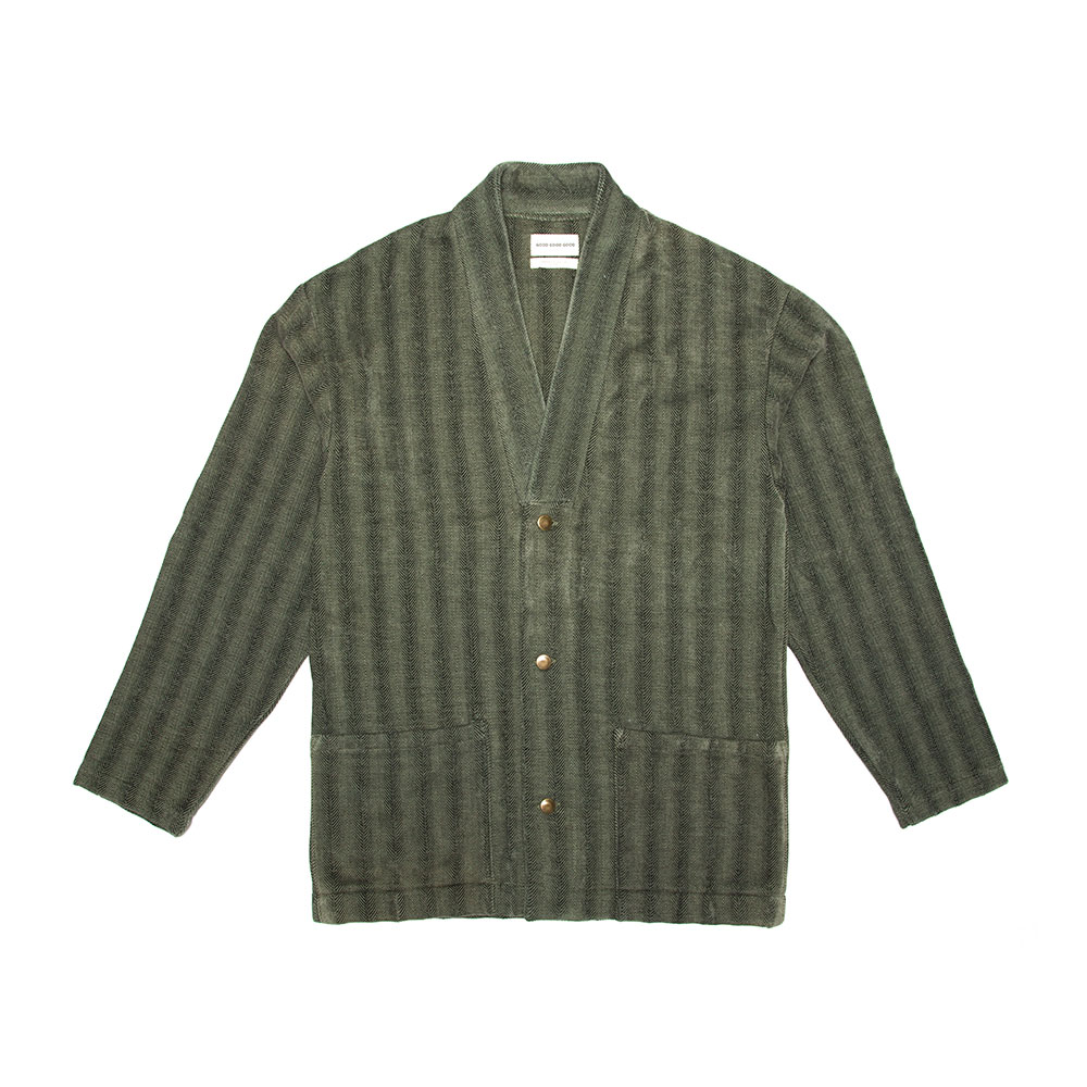 Noragi Work Wear Jacket - Olive Herringbone