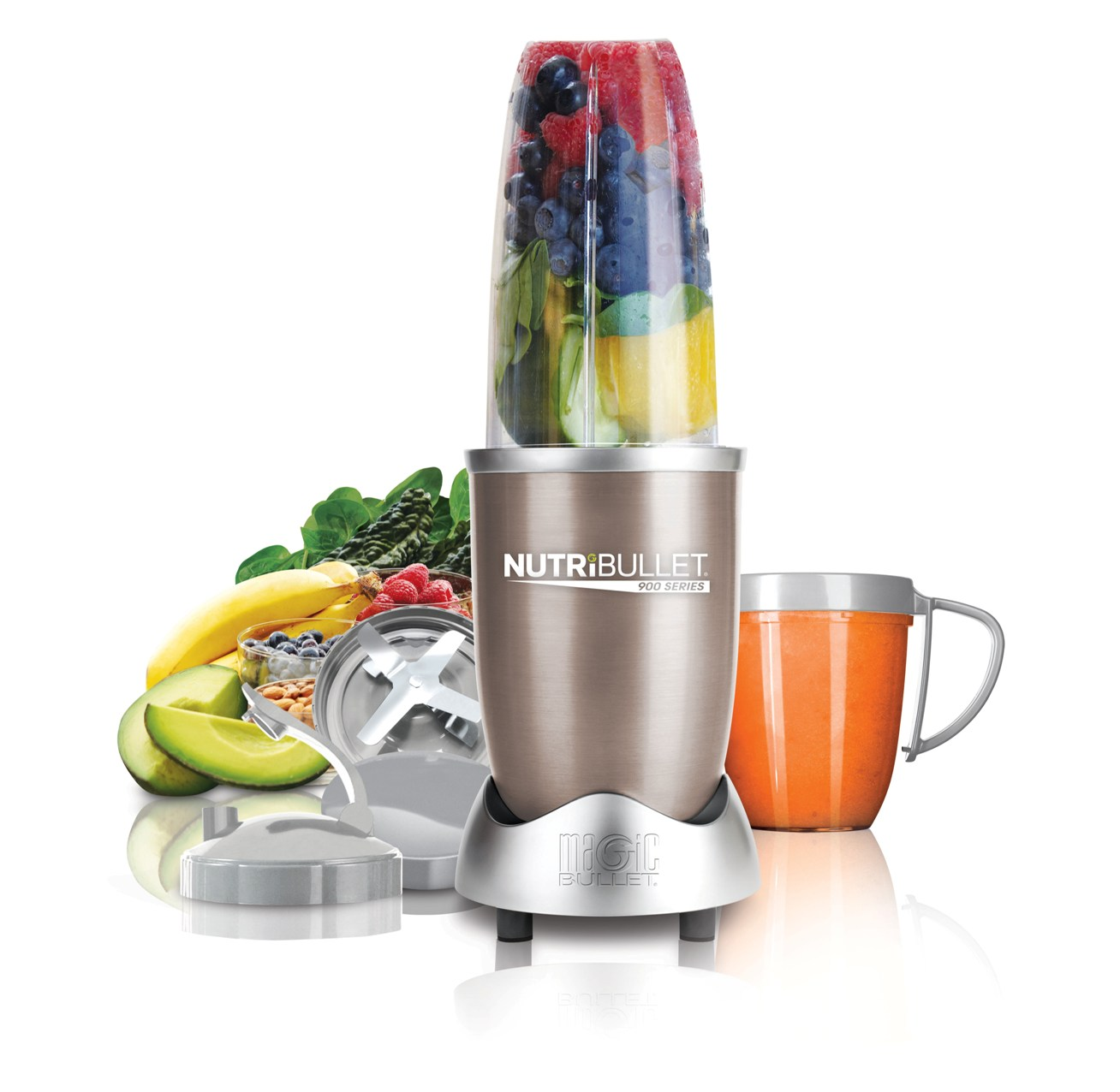 Unlike everyday juicers and blenders, the NutriBullet completely breaks down ingredients into their most nutritious, most absorptive state! Perfect for health-conscious people with an on-the-go lifestyle, and the perfect companion for Sinchies Reusable Food Pouches. Blend & Store! Scroll down to see the various models.