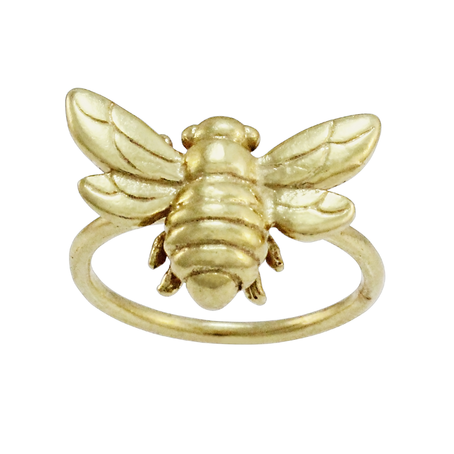 9ct Yellow Gold Bee Ring