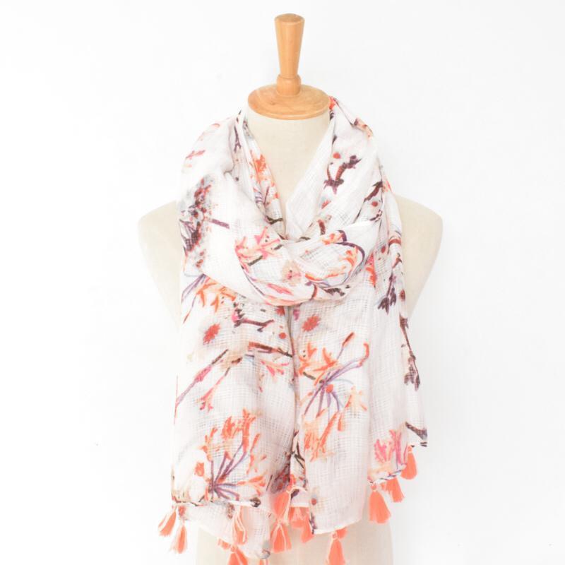 Fresh branch spring scarf