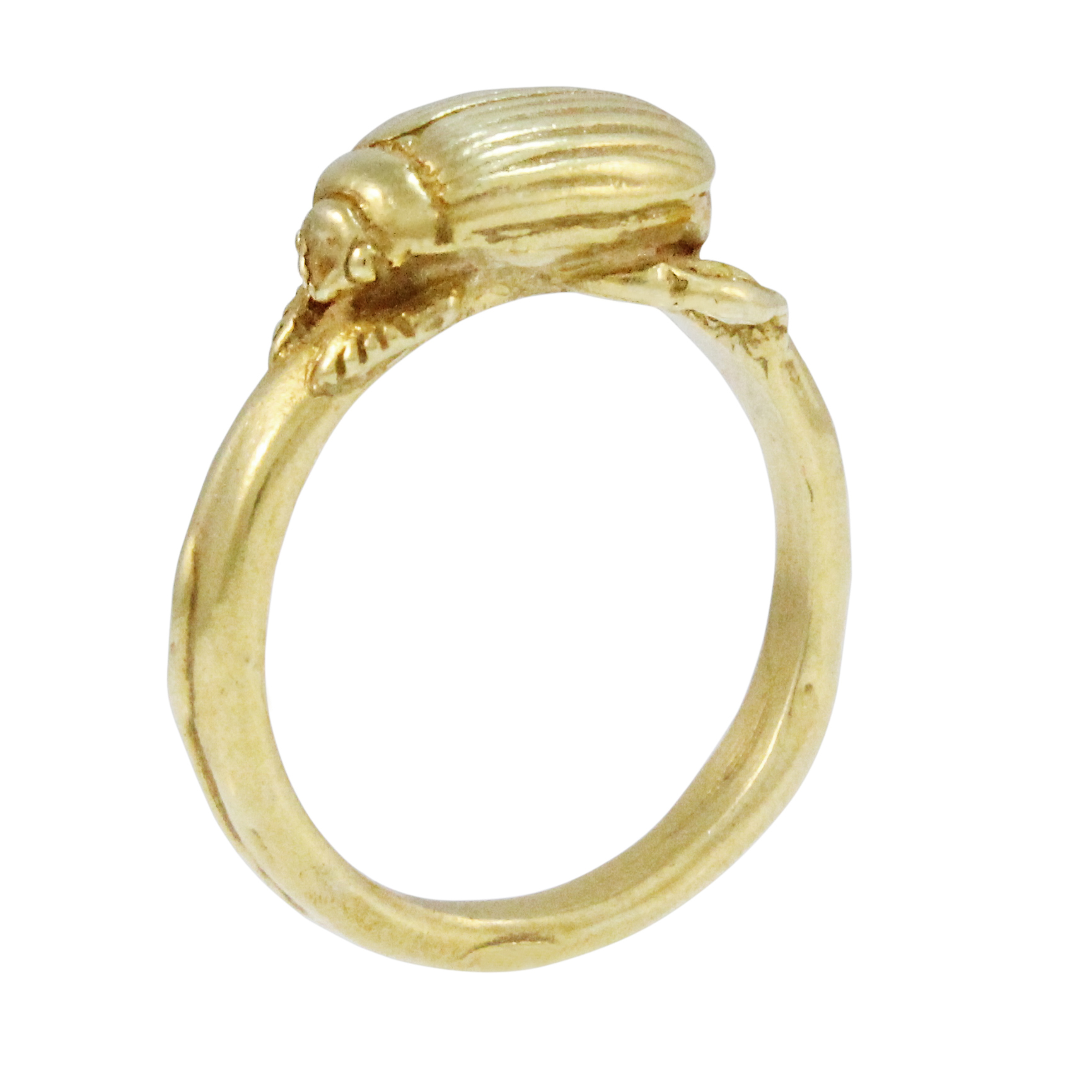 9ct Yellow Gold Beetle Ring