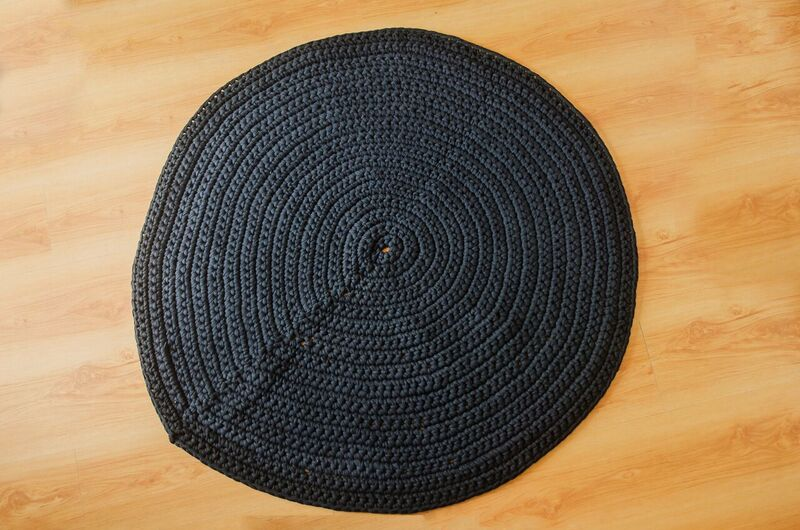 Cotton Crochet Rug - Round