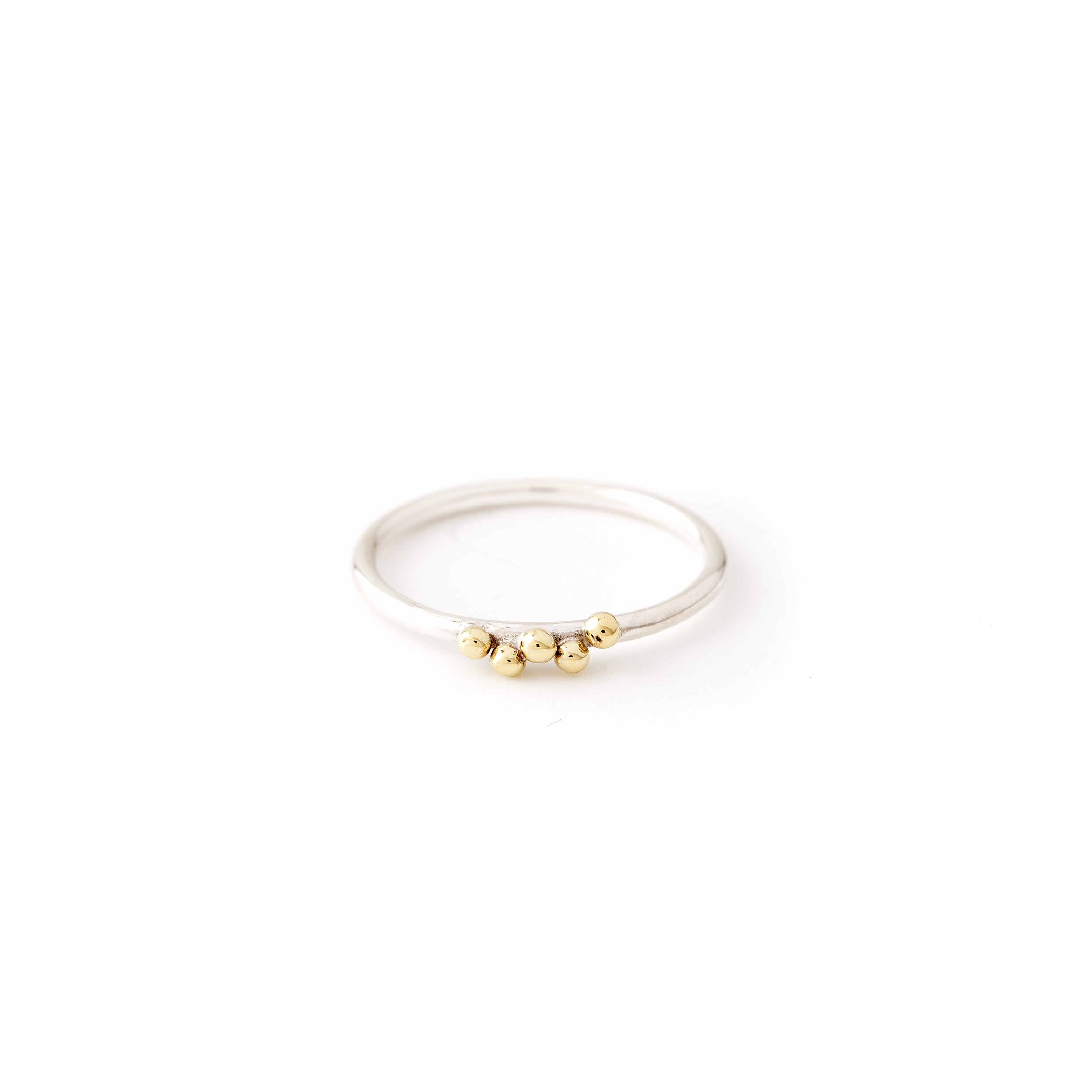 Granulation Ring Silver and Brass