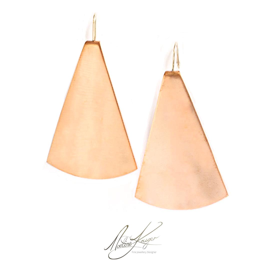 Circle sector earrings