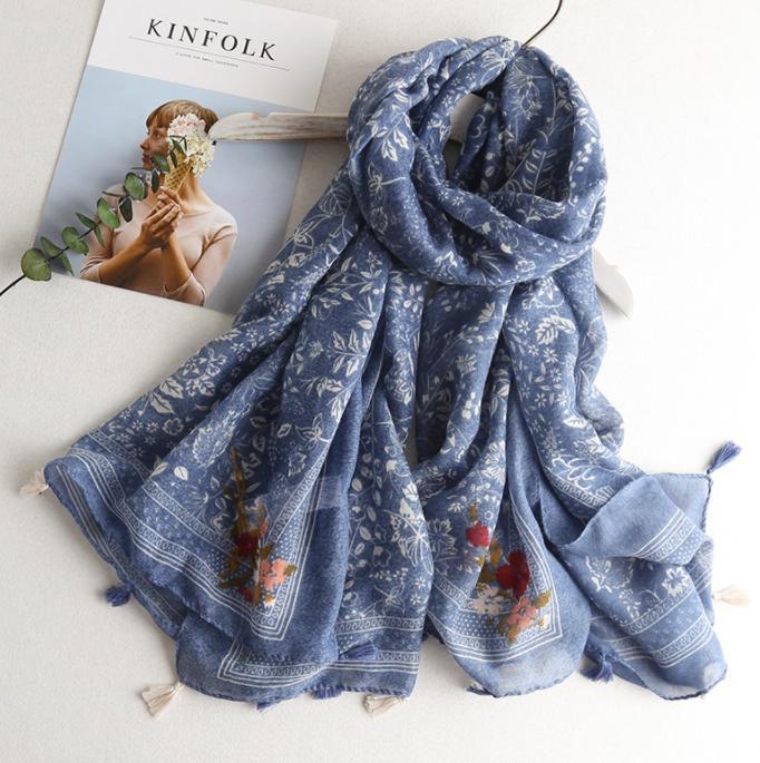 Dreamy blue scarf