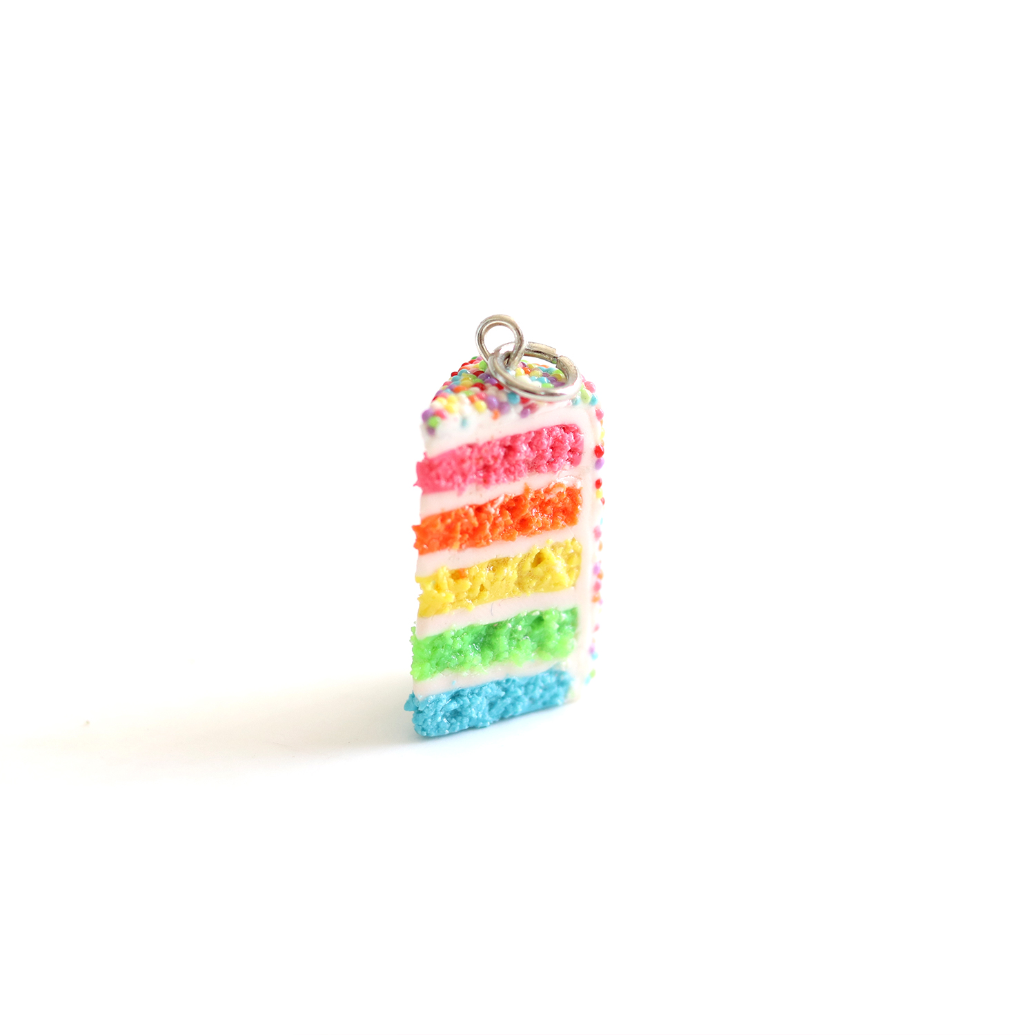 Neon Rainbow Cake Charm/ Necklace