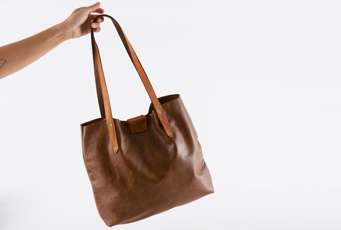 Soft Tote Bag - walnut