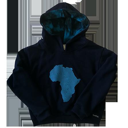 Africa hoodie navy