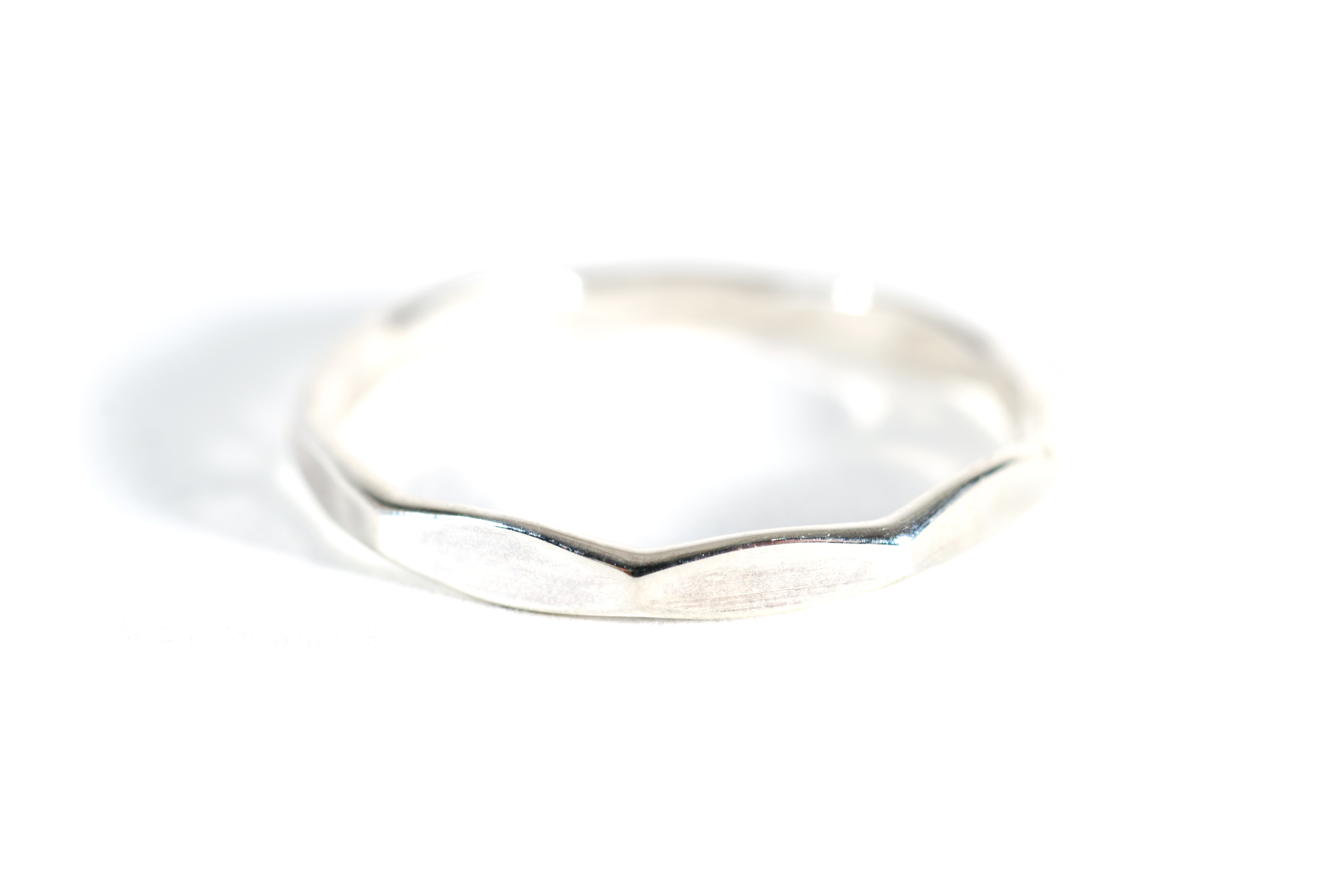 Multi Facet Ring Silver