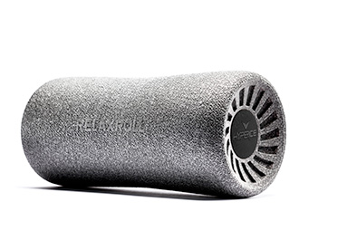 Unlike traditional foam rollers, spare your spine with the Relaxroll. The patented contour design conforms to the body's curves of the back and lower extremities. 