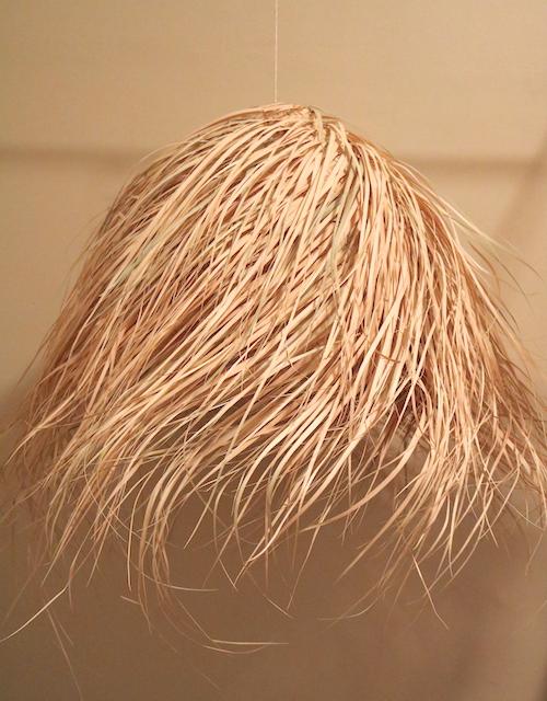 Large Round Hairy Lampshade