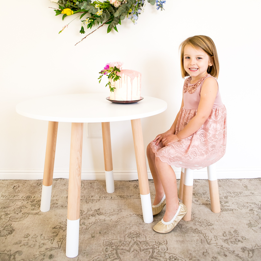 Our beautiful modern dipped stool is perfect for any trendy home, allowing your kids to get creative in a space of their own. Choose how many stools you need and pair with our matching beech wood table for the ultimate simplistic look.