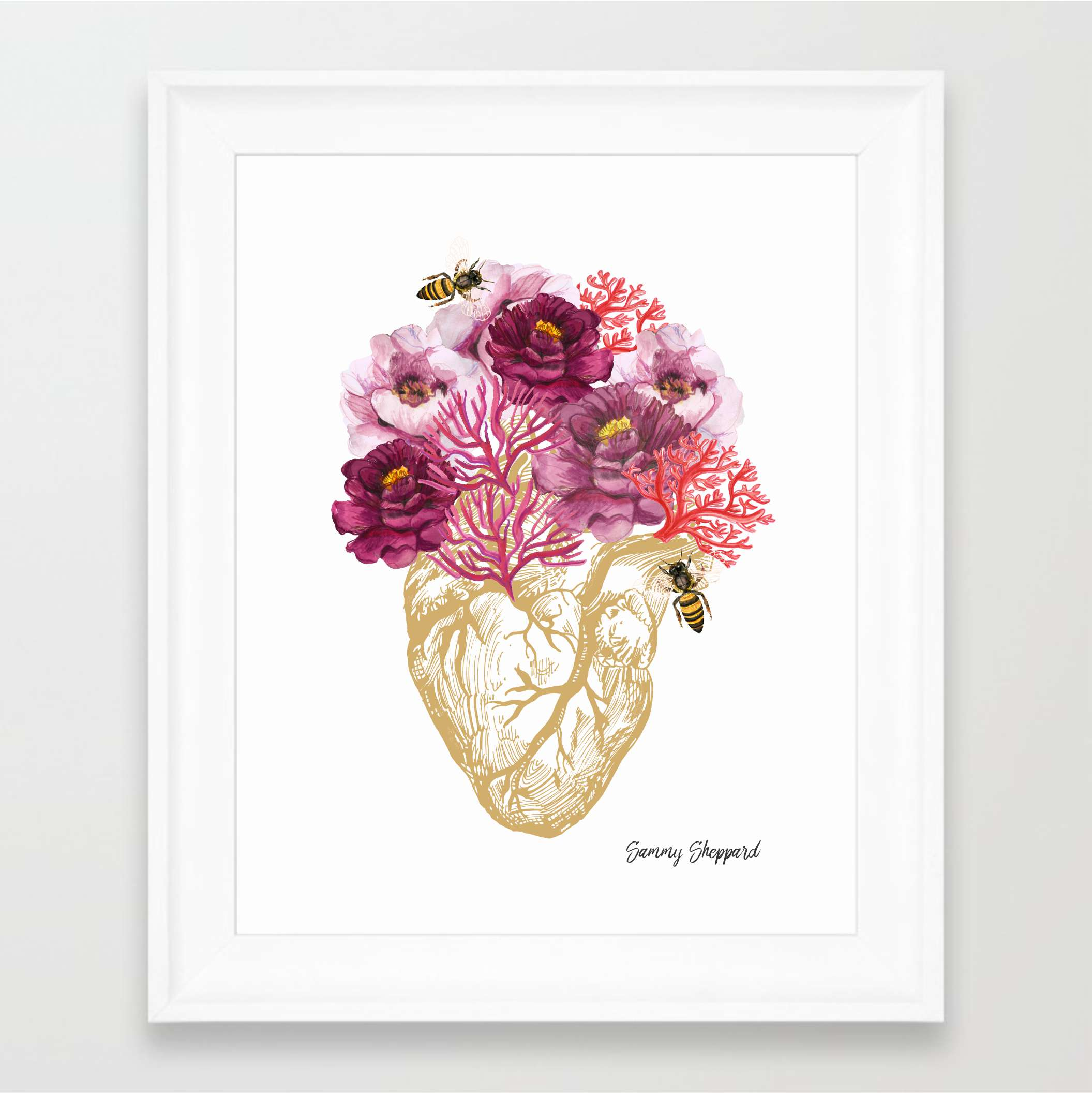 Own this beautiful hand illustrated print by Sammy Sheppard.