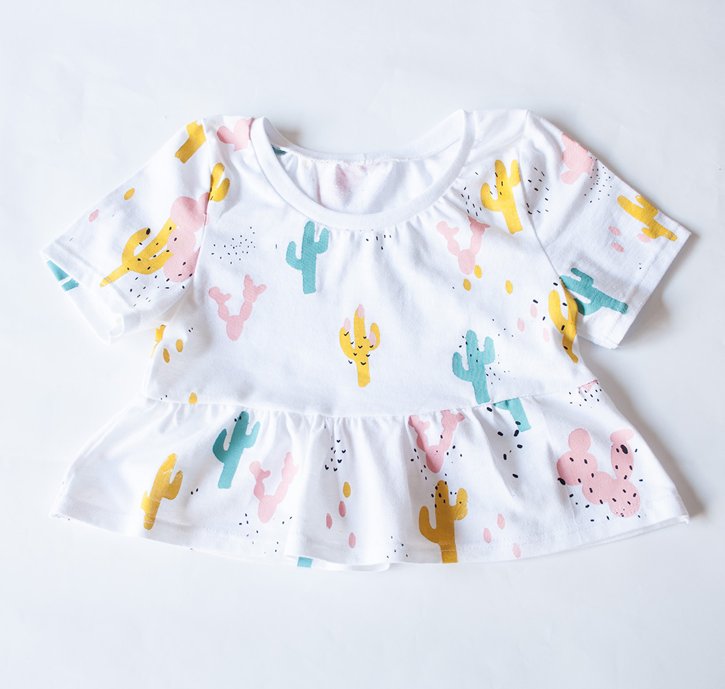 OUR TOPS ARE BEAUTIFUL SPECIAL TOPS FOR LITTLE GIRLS.  FRILL SLEEVES, FRILL TOPS AND OFF SHOULDER TOPS IS WHAT YOU WILL FIND HERE.  THEY ARE ALL MADE FROM GOOD QUALITY COTTON KNIT FABRIC