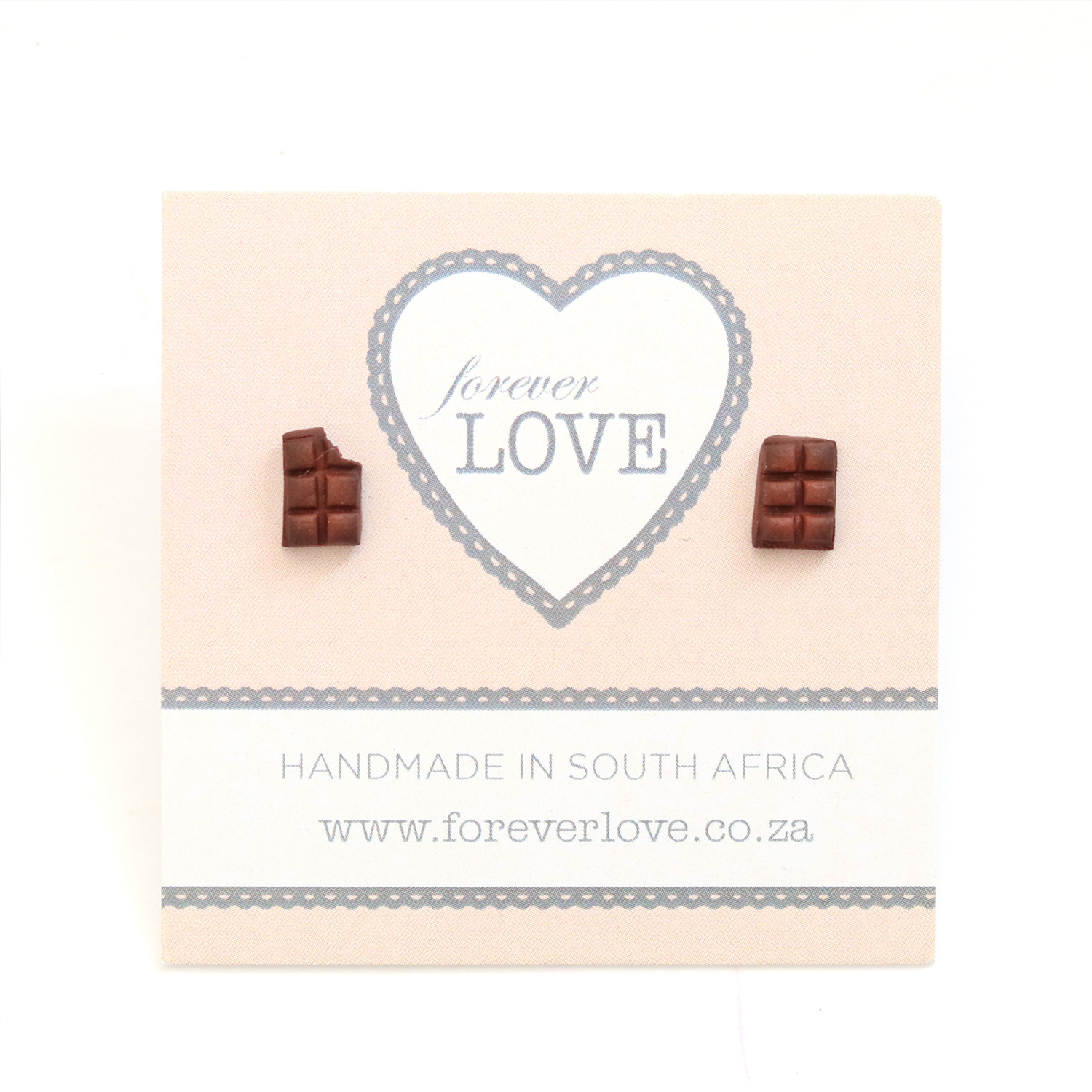 Chocolate Polymer Clay stud Earrings