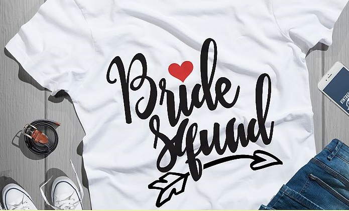 "Bridal Party Tshirts ""Bride Squad""