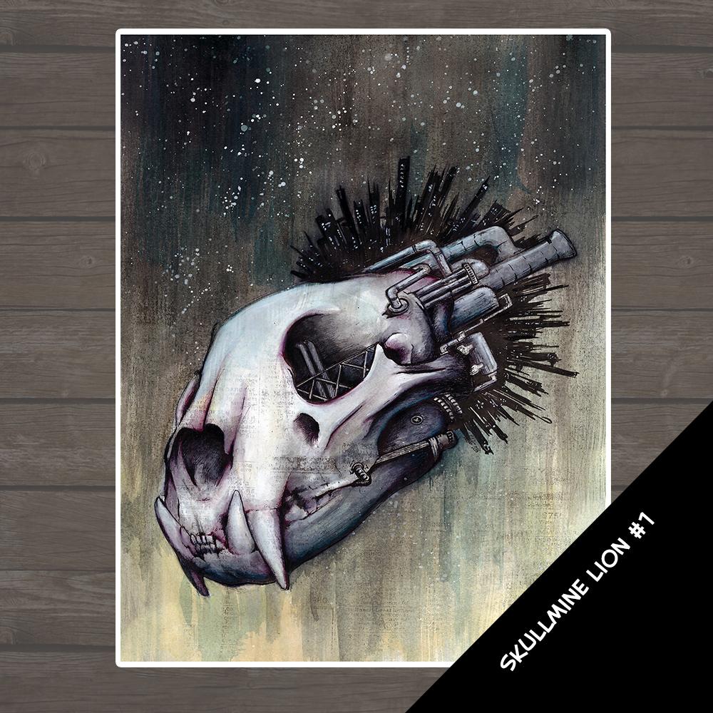 SkullMine - Lion 1 Illustration