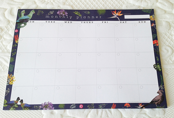 A3 Monthly Planner: Gathering of Louries