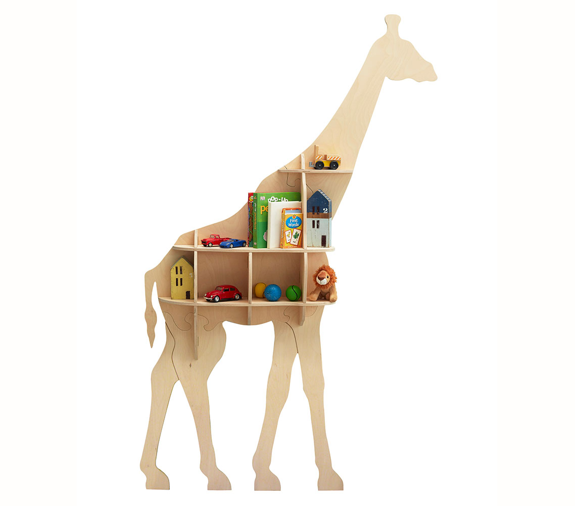 Brand new to the Head On Design product range is the wall-mounted Giraffe Bookshelf made from Birch plywood. This elegant bookshelf is perfect for any interior in need of a touch of fun and is easy to assemble. It comes flat-packed with clear instructions on how to assemble and install. No glue required - screws and plugs included.