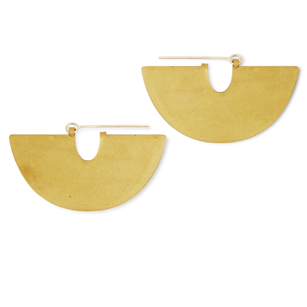 Halfmoon Brass Shape Earrings