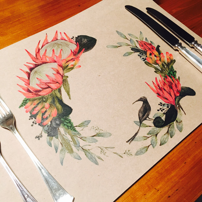 Paper placemats - Black Sugar