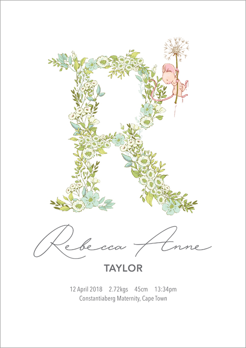 Personalised name print ~ Greenhouse